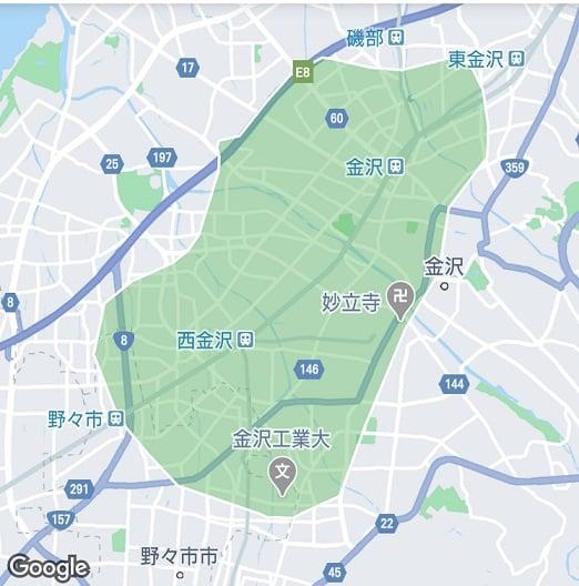 金沢市配達エリア001